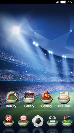 Football Stadium CLauncher Android Theme Image 1