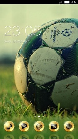 Golden Football CLauncher Android Theme Image 1