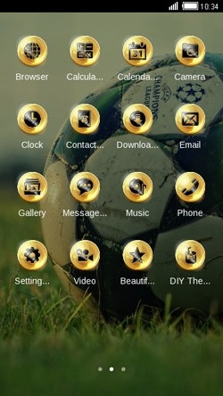 Golden Football CLauncher Android Theme Image 2