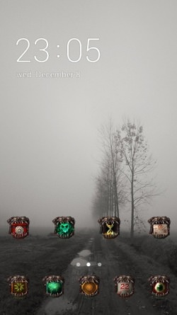 Haunted Road CLauncher Android Theme Image 1