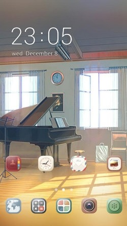 Piano CLauncher Android Theme Image 1