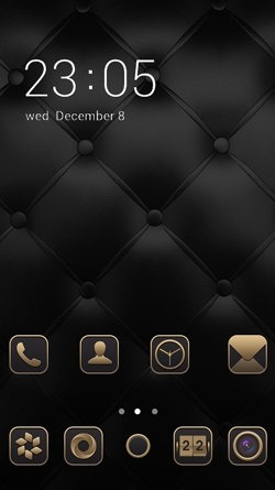 Black Pattern CLauncher Android Theme Image 1