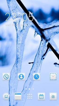 Download Free Android Theme Snow CLauncher - 3676
