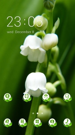 Download Free Android Theme White Flowers CLauncher