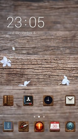 Wood Texture CLauncher Android Theme Image 1