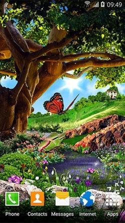 Butterflies 3D Android Wallpaper Image 1
