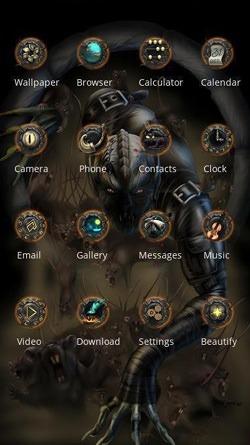 Devil CLauncher Android Theme Image 2