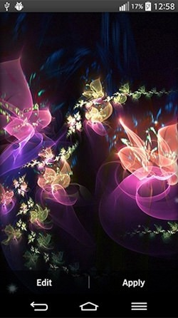 Glowing Flowers Android Wallpaper Image 2