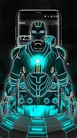 Neon Hero 3D Android Wallpaper Image 1