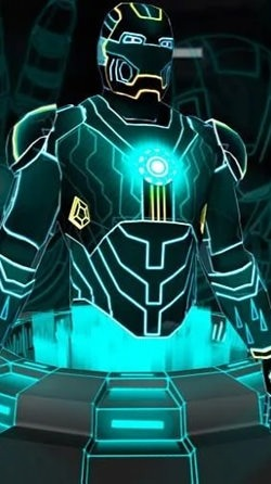 Neon Hero 3D Android Wallpaper Image 2