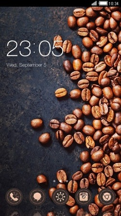 Coffee Beans CLauncher Android Theme Image 1