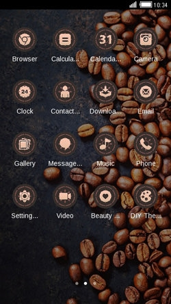 Coffee Beans CLauncher Android Theme Image 2