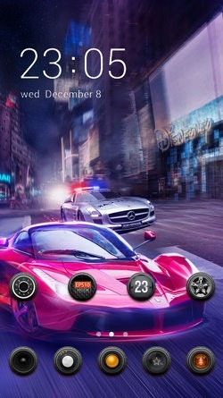 Racing Car CLauncher Android Theme Image 1