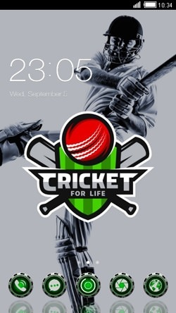 Cricket For Life CLauncher Android Theme Image 1