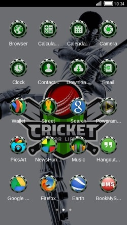 Cricket For Life CLauncher Android Theme Image 2