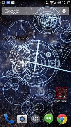 Hypno Clock Android Wallpaper Image 1