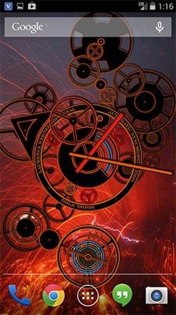 Hypno Clock Android Wallpaper Image 2