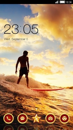Surf CLauncher Android Theme Image 1