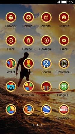 Surf CLauncher Android Theme Image 2