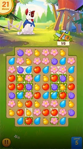 Download Free Android Game Backyard Bash New Match 3 Pet Game