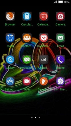 Neon Music CLauncher Android Theme Image 2