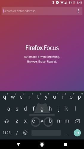 Firefox Focus: The Privacy Browser Android Application Image 1