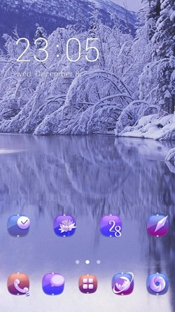 Lake CLauncher Android Theme Image 1