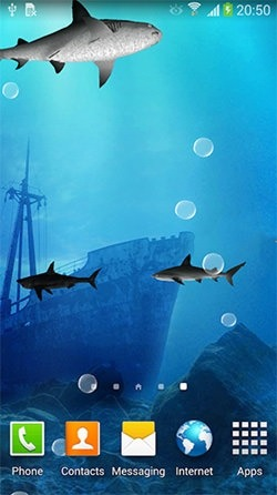 Sharks 3D Android Wallpaper Image 3