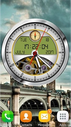 Analog Clock 3D Android Wallpaper Image 2