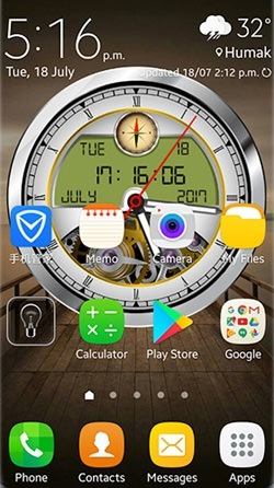 Analog Clock 3D Android Wallpaper Image 3