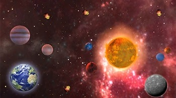 Solar System 3D Android Wallpaper Image 3