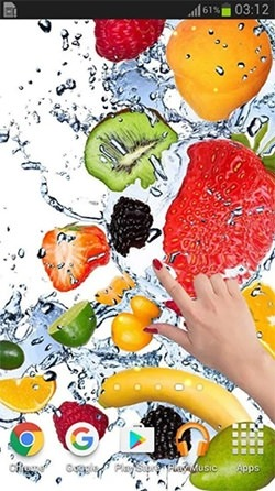 Fruits In The Water Android Wallpaper Image 1