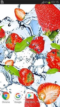 Fruits In The Water Android Wallpaper Image 2