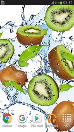 Fruits In The Water Android Wallpaper Image 3