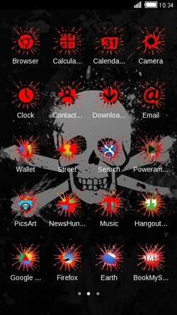 Skull CLauncher Android Theme Image 2