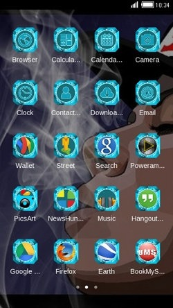 Smoke CLauncher Android Theme Image 2