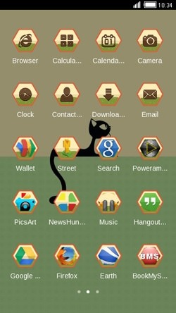 Black Cat CLauncher Android Theme Image 2