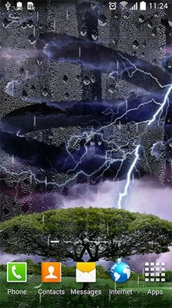 Thunderstorm Android Wallpaper Image 1