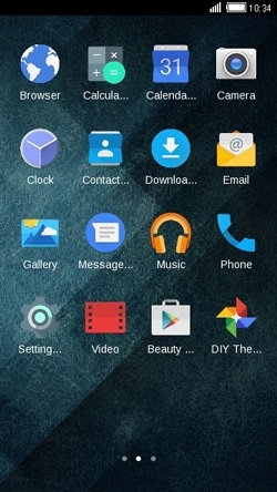Blue Abstract CLauncher Android Theme Image 2