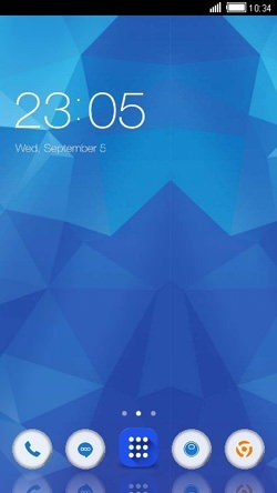 Blue Crystals CLauncher Android Theme Image 1