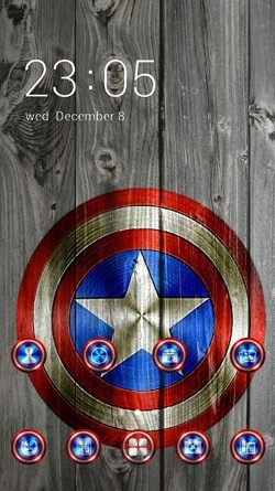 Captain America CLauncher Android Theme Image 1