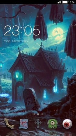 Haunted House CLauncher Android Theme Image 1