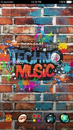 Techno Music CLauncher Android Theme Image 1