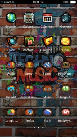 Techno Music CLauncher Android Theme Image 2
