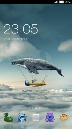 Flying Whale CLauncher Android Theme Image 1