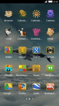 Flying Whale CLauncher Android Theme Image 2