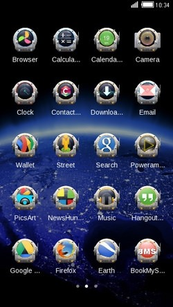 Space CLauncher Android Theme Image 2