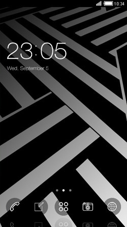Zigzag CLauncher Android Theme Image 1