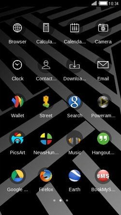 Zigzag CLauncher Android Theme Image 2