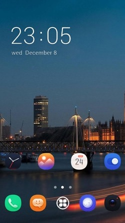 City Lights CLauncher Android Theme Image 1